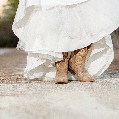 Trade Your Wedding Heels for Cowboy Boots